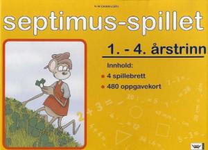 Septimus-spillet. 1.-4. årstrinn. 4 spillebrett. 480 oppgavekort