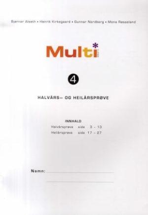 Multi 4, 2. utgåve. Halvårs- og heilårsprøve. Pakke á 15 stk