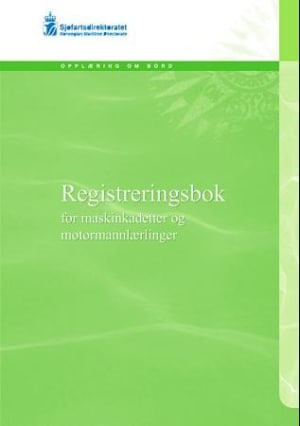 Registreringsbok for maskinkadetter og motormannlærlinger