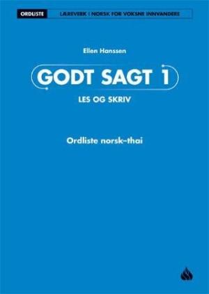 Godt sagt 1, Les og skriv: Ordliste norsk-thai