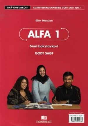 Godt sagt Alfa1, Alfaboksen Små bokstavkort