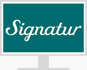 Signatur nettressurs