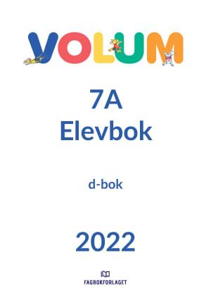 Volum 7A Elevbok, d-bok