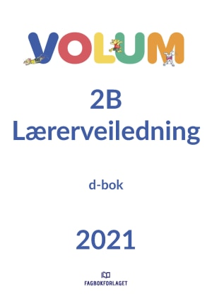 Volum 2B lærerveiledning, d-bok