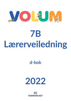 Volum 7B lærerveiledning, d-bok