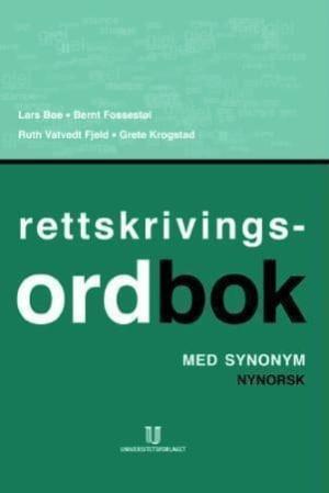 Rettskrivingsordbok med synonym
