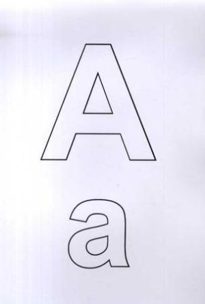 Bokstavplansjer til trening i det norske alfabetet
