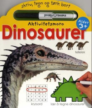 Dinosaurer. Aktivitetsmoro. Skriv, tegn og tørk bort. 1 bok. 1 tusjpenn