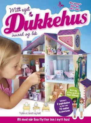 Mitt eget dukkehus. Innred og lek. Bok med dukkehus som kan brettes. Med 2 papirdukker, møbler og gjenstander