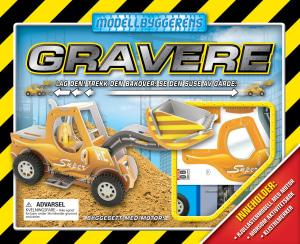 Gravere. Modellbyggeren. Hjullastermodell med motor, aktivitetsbok, klistremerker