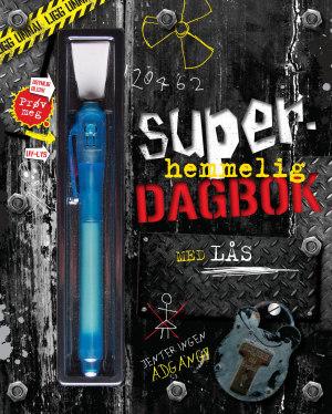 Superhemmelig dagbok med lås. Penn med usynlig blekk og UV-lykt!