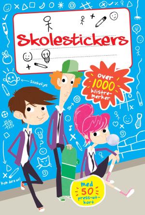 Skolestickers! Over 1000 klistremerker. Med 50 press-ut-kort