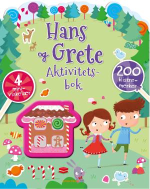 Hans og Grete. Aktivitetsbok. 200 klistremerker. 4 miniviskelær