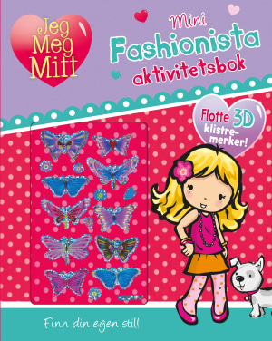 Mini-fashionista aktivitetsbok. Flotte 3D-klistremerker