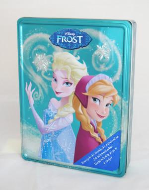 Frost. Disney tinnboks. 3 bøker, 4 tusjer, 1 plakat og 50 klistremerker
