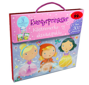 Eventyrprinsesser. Klistremerke- og aktivitetspakke. Med 3 bøker og mer enn 300 klistremerker og press-ut-figurer