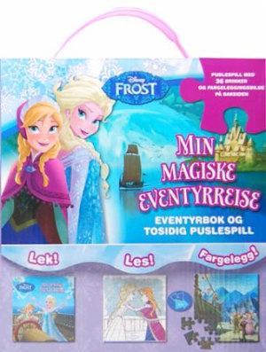 Frost. Min magiske eventyrreise. Eventyrbok og tosidig puslespill. Lek, les og fargelegg! Puslespill med 36 brikker og fargeleggingsbilde på baksiden