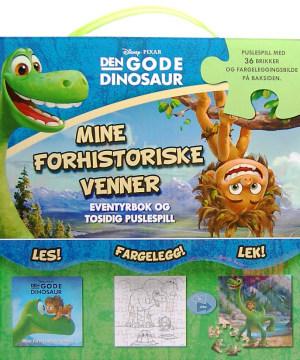 Den gode dinosaur. Mine forhistoriske venner. Eventyrbok og puslespill. Les, fargelegg, lek! Puslespill med 36 brikker og fargeleggingsbilde på baksiden