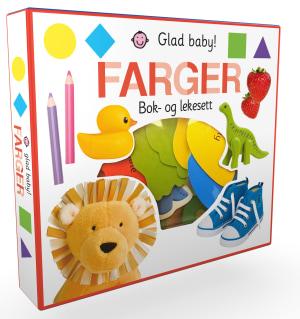 Farger. Glad baby - bok- og lekesett