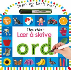 Lær å skrive ord. Skoleklar. Tegn og tørk bort. 1 bok. 1 tusjpenn