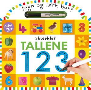 Tallene 123. Skoleklar. Tegn og tørk bort. 1 bok. 1 tusjpenn