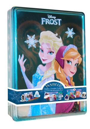 Frost. Disney tinnboks. 3 bøker, 4 tusjer, 1 plakat og over 50 klistremerker