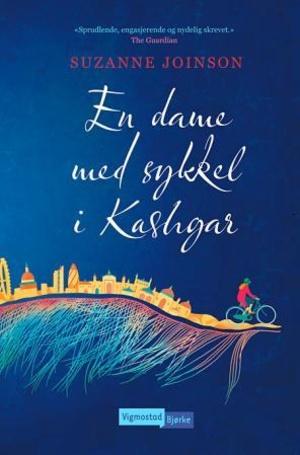 En dame med sykkel i Kashgar