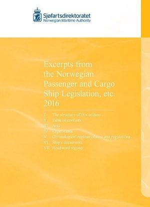 9788245020601 - Excerpts from the Norwegian passenger and cargo ship legislation etc. 2016 - Bok