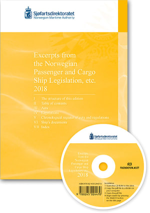 Excerpts from the Norwegian Passenger and Cargo Ship Legislation etc. 2018, bok&