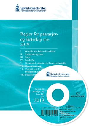 Regler for passasjer og lasteskip mv. 2019, bok og cd