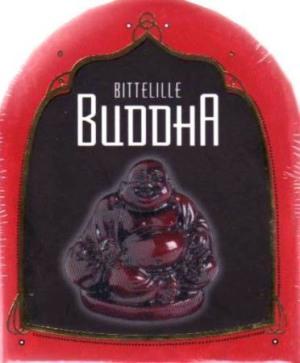 Bittelille Buddha. Inneholder: 1 bok. 1 Buddha med sokkel. 2 røkelsespinner. 1 røkelsesholder