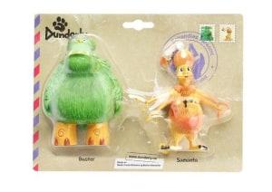 Plastfigurene Samanta og Buster