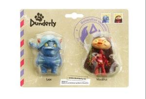 Plastfigurene Modika og Lex