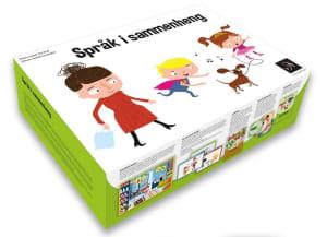 Språk i sammenheng. 10 bøker. 10 samtalekort. 100 aktivitetskort. 300 bildekort. 1 veiledning