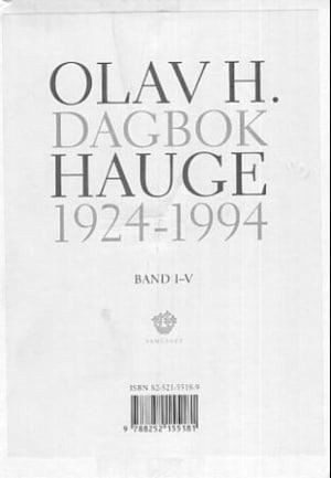 Dagbok 1924-1994. Bd. 1-5
