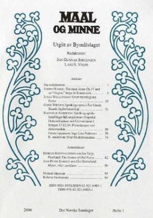 Maal og minne. Hefte 1-2006