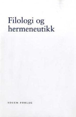 Filologi og hermeneutikk