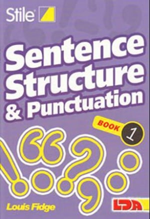 Sentence, structure & punctuation 1-12