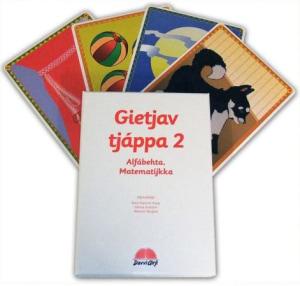 Gietjav tjáppa 2. Alfábehta, matematijkka. 65  alfabet- og matematikkort. Læremiddel for barnehage