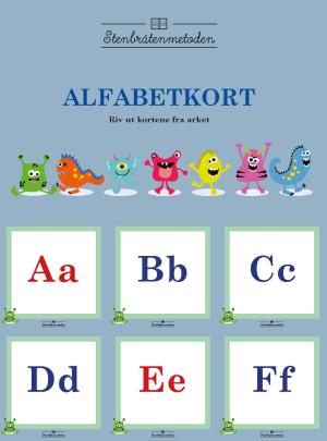 Stenbråtenmetoden. Alfabetkort 10 eks.