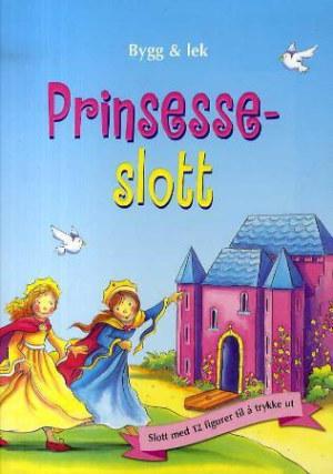 Prinsesseslott. Slott med 12 figurer til å trykke ut. Bygg og lek