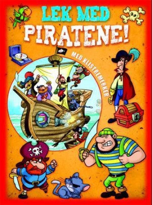 Lek med piratene! Rødt aktivitetshefte med klistremerker