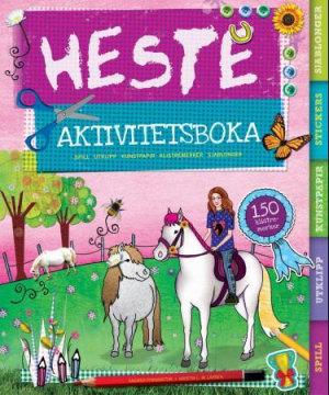 Hesteaktivitetsboka. Spill, utklipp, kunstpapir, klistremerker, sjablonger