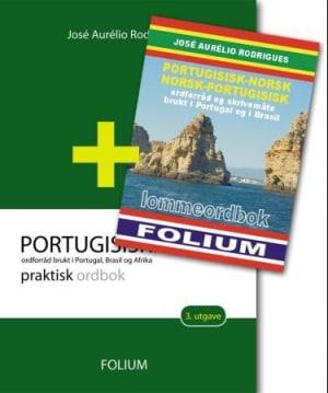 Portugisisk-norsk praktisk ordbok + lommeordbok