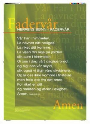Fader vår. Herrens bønn. Plakat