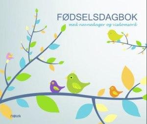 Fødselsdagbok med navnedager og visdomsord. Fugler på gren