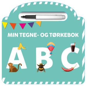 Min tegne- og tørkebok. ABC