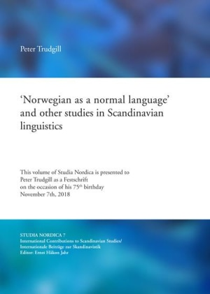 'Norwegian as a normal language' and other studies in Scandinavian linguistics