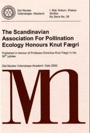 The Scandinavian Association for Pollination Ecology honours Knut Fægri