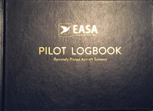 Pilot logbook. Remotely piloted aircraft systems